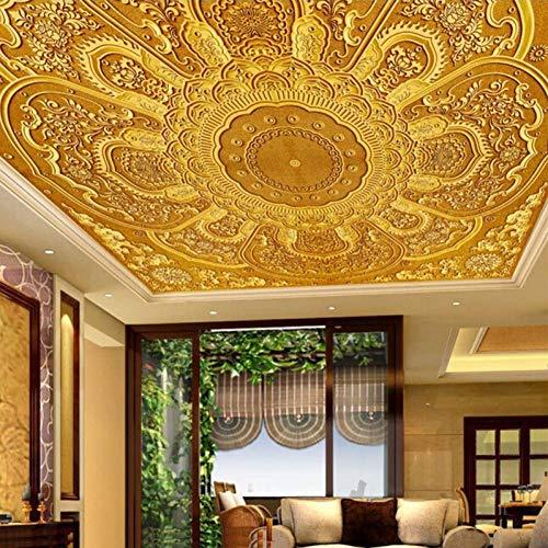 ACYKM 3D Wandbild Benutzerdefinierte Tapeten Wandbilder Stil oder Blumenmuster Stereo prägen Wandmalerei Hotel Wohnzimmer Schlafzimmer Decke Tapete 250 * 160cm 9000 Stereo