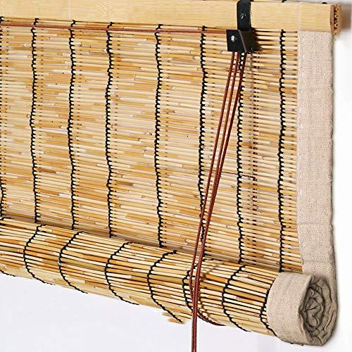 RKY Jalousien Rollo Bambus Vorhang - hochwertige Reed Heben Dekoration Rollo Retro wasserdicht und...