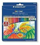 Staedtler Noris Club 144 NC24 Buntstifte, erhöhte Bruchfestigkeit, sechskant, Set mit 24 brillanten Farben, kindgerecht nach DIN EN71, umweltfreundliches PEFC-Holz -