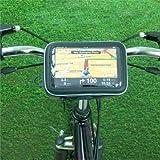 Montage guidon lanière de verrouillage vélo / moto étui imperméable IPX4 pour appareils GPS écran large XXL 15cm