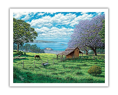 Pacifica Island Art Ulupalakua Upcountry-Maui Hawai 'i-Ursprüngliche Farbe Malerei von Hans Olson-Hawaiian Fine Art Print 11