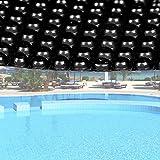 Wiltec Pool Solarfolie Rund Ø 5m schwarz Poolabdeckung Solarplane Poolheizung