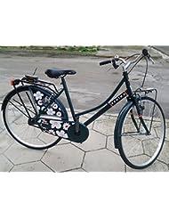 Holanda Bicicleta Reina 26 Libres mod.flowers Mujer verdone