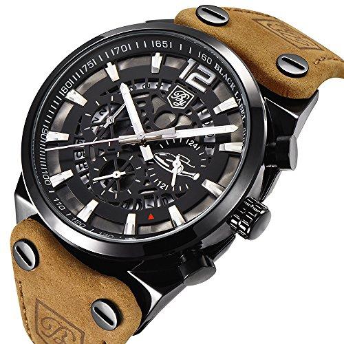 Benyar orologi sportivi uomo scheletro militare cronografo uomo outdoor quadrante grande esercito...