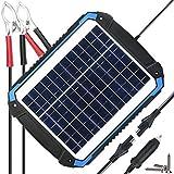 SUNER POWER 12V Solar Car Battery Charger & Maintainer - Portable 12W Solar