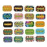 100 Belohnungstickets–Belohnungstickets, Anreize für Kinder, Karneval-Party-Zubehör, verschiedene Farben, 12x 10x 5cm