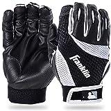 Franklin Sports MLB 2nd-Skinz Handschuhe für Schlagmann, Batter, Unisex, 21100F4, schwarz/weiß, Youth L