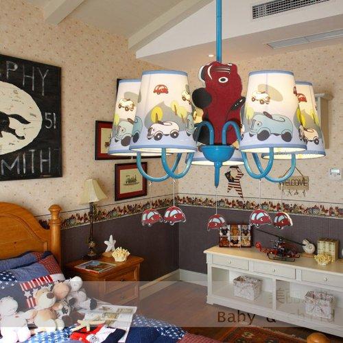 Jungen Cartoon Auto Schlafzimmer Kronleuchter Lampe Mediterraner Kid 's Room Anhänger Leuchten Kinder Pendelleuchte - 5