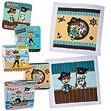 Bada Bing Piraten 5er Set Magisches Handtuch Zauberhandtuch 30 x 30