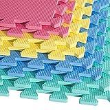 HOMCOM 8 tlg/16 tlg/24 TLG Matte Puzzlematte Spielmatte Bodenschutzmatte Bodenmatte Turnmatte Eva (bunt/16 TLG)