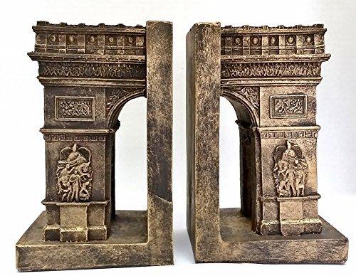Bellaa décoratifs Serre-livres Arc de Triomphe Paris – Paris attractions Big Taille Serre-livres