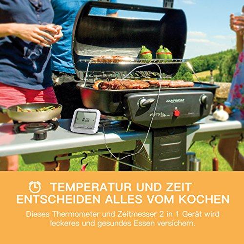 61p8Kbx7UML - Fleischthermometer TOPELEK Bratenthermometer Grillthermometer 2 Sonden Haushaltsthermometer Temperatur Voreinstellung, Countdown Timer, Instant Read-Out, Magnetische Montagedesign für Küche, Grill