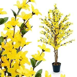 nexos k nstliche forsythie kunstpflanze kunstbaum mit vielen zweigen und herrlichen. Black Bedroom Furniture Sets. Home Design Ideas