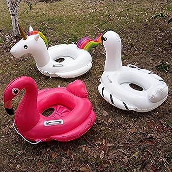 Baby Schwimmsitz Rosafarbener Flamingo Aufblasbar Kinder Schwimmring Einhorn Cartoon Aufblasbares Schwimmreifen Badespielzeug (Baby Schwimmring, Baby Flamingo) 7