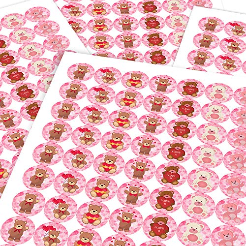 Chunky Hamster Loving Teddy Bears, Reward Sticker Labels (70 Stickers @ 2.5cm) Children, Parents, Teachers (Teddy Hamster Bear)