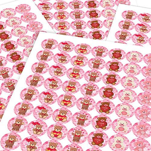 Chunky Hamster Loving Teddy Bears, Reward Sticker Labels (70 Stickers @ 2.5cm) Children, Parents, Teachers (Bear Teddy Hamster)