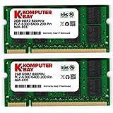 Komputerbay 4GB 2X2GB DDR2 800MHz  PC2-6300 PC2-6400 (200 PIN) SODIMM Laptop-Speicher