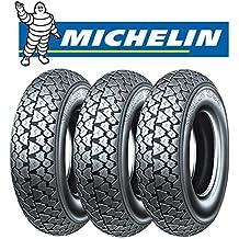 Triple tres neumáticos Michelin S83para Piaggio Vespa Cosa Squire Sidecar 200Tamaño: 100/90–1056J Dot 2016