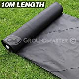 GroundMaster 10m Lengths Weed Control Fabric Ground Cover Membrane (2m Wide)