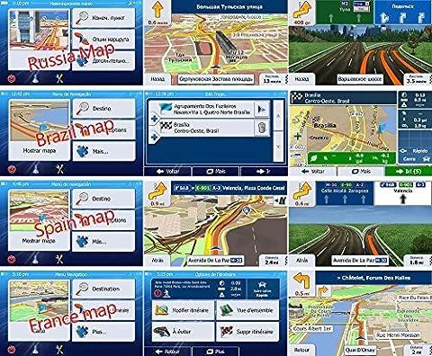 Quanmin Newest GPS Map Card 8Gb SD/TF Card For IGO Primo 8 UK RU EU AU For GPS Navigation Map Updates GPS Software Wince system