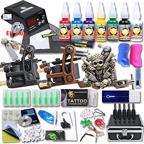 dragonhawk-professional-tattoo-kit-3-machine-gun-top-ce-power-supply-needles-grip-tip-usa-brand-ink-