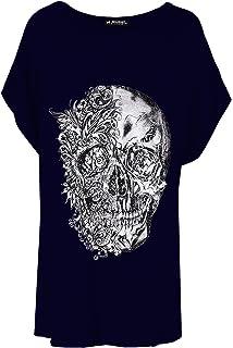 Twisted Envy Girl/'s Day Of The Dead Skull Rhinestone Diamante T-Shirt