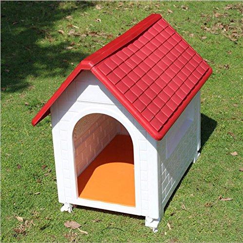Puppy Dog House Hundehütte, Wetter Proof Kunststoff Indoor Outdoor Animal Pet Shelter (Kunststoff-trainings-kennel)
