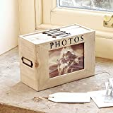 Holz Fotoalbum MEMORY Aufbewahrungsbox 20cm