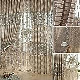 Demiawaking Wohnzimmer Baum blatt Muster Voile Fenster Vorhang Sheer Panel Vorhänge Schal Vorhang