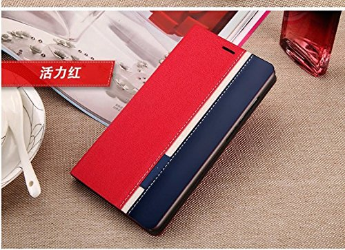 Tarkan Dual-Color Leather Flip Cover Case with Card Slot, Convertible Back Stand for Micromax Canvas Juice A77 / A177 (Red+Blue)  available at amazon for Rs.299