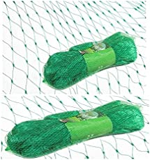 Krisah® Green Anti Bird Net (19 mm Mesh Size) with Cable Ties for Easy Tying