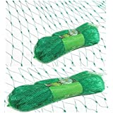 Krisah® 50 FT X 10 FT Green Anti Bird Net (19 mm Mesh Size) with Cable Ties for Easy Tying (50)