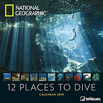 National Geographic 12 Places To Dive 2019 Broschürenkalender: Wandkalender, Naturkalender Teneues [Lingua Olandese]