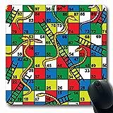 Tapis de Souris pour Ordinateurs Ladder Kid Snakes Echelles Conseil Résumé Puzzle Numéro en arrière Étape en Avant Gagnant Non-Slip Oblong Gaming Pad