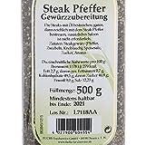 Fuchs Steak Pfeffer Gewürzzubereitung Pfeffergewürz-Mischung geschroteter Steakpfeffer, zum Grillen, ideal für Gewürz Rub und Marinade, Menge: 2 Stück - 6