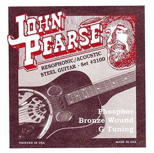 John Pearse 3100 JP Resophonic Gitarre Saiten, P/Bz