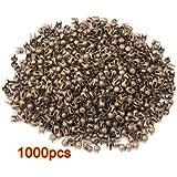 1000 x Remaches Tachuelas Cobre Color Bronce Bisutería para Cuero