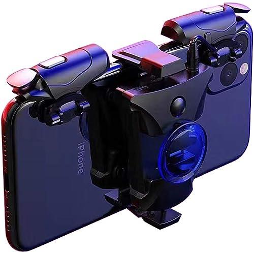 PUBG Mobile Trigger, controller di gioco mobili PB906 in modalità Rapid-Fire per PUBG / COD Mobile / Fortnite / Regole di sopravvivenza Grip e joystick di gioco per telefoni Android iPhone
