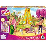 Schmidt Spiele Puzzle 56143 - Mia and me, Ein schöner Tag mit Mia, 200 Teile inkl. CRAZE Loops