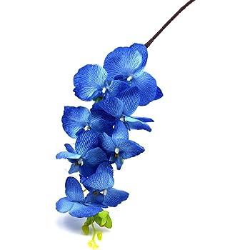 Amazon.de: Orchideenzweig 106 cm XXL blau Seidenblumen