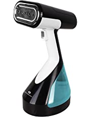 ROSSMANN SmartFlow 1500-Watts Portable Handheld Garment Steamer for Both Horizontal and Vertical Use with Insulated Glove and 260ml Removable Tank