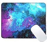 Tapis de Souris Gaming,iVoler Galaxy Customized (300mm*250mm*3mm) Mouse Pad Hydrorésistant Mousepad Gaming avec Base en Caoutchouc Anti-glissant Surface Texturée pour Bureau Office Ordinateur Personnel et Ordinateur Portable.
