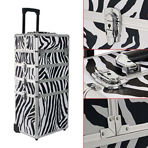 Kosmetikkoffer Trolley in XXL – Zebra - 4