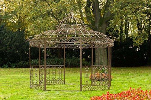 CLP Luxus Pavillon Romantik V2 aus pulverbeschichtetem Eisen l Runder Pavillion mit Stilvollen...