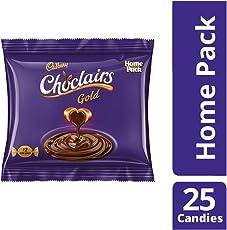 Cadbury Choclairs Gold (25 Candies), 142.5gm Home Pack