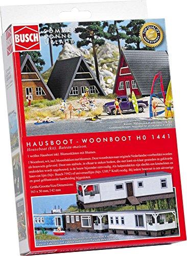 Preisvergleich Produktbild Busch 1441 - Hausboot, Fahrzeug, weiß