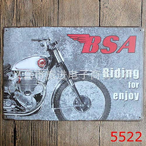 cle Malerei Retro Metall Poster Vintage Fahrt Fahrrad Wanddekor Bar Pub Hause Handwerk Geschenk Kunst Eisen Blechschilder YN049, YG510,20x30 cm ()