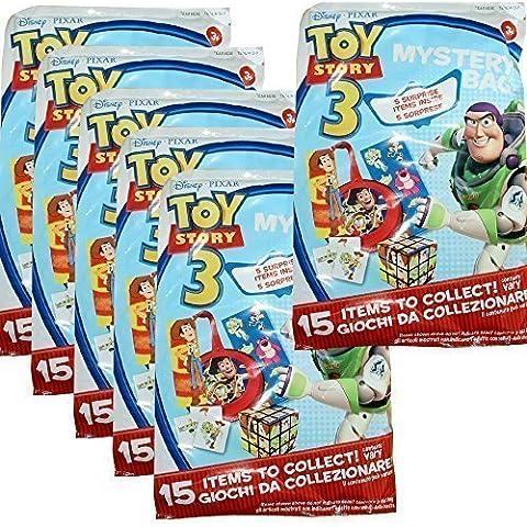 Borsa delle meraviglie 6 pezzi sacchetto per feste di compleanno bambini Toy Story sorpresa