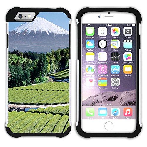 Graphic4You Mountains In Japan Postkarte Ansichtskarte Design Hart + Weiche Kratzfeste Hülle Case Schale Tasche Schutzhülle für Apple iPhone 6 Plus / 6S Plus Singapore #2