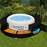 Best Hot Tubs - UK Leisure World New Black Poly Rattan Spa Review